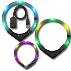 LEUCHTIE, the LED dog collar with different color options