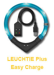 LED Leuchthalsband LEUCHTIE Plus Easy Charge für Hunde