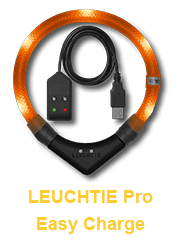LED Leuchthalsband LEUCHTIE Pro Easy Charge für Hunde